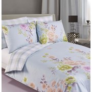 Floral Check Duvet Set Single (DVT41601)